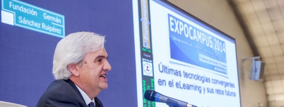 """Germán Ruipérez (Expocampus, 31.10.2014) en Casa del Lector -Centro Cultural """"El Matadero""""- de Madrid- (Fundación Germán Sánchez Ruipérez)"""